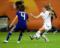 Alex Morgan, Saki Kumagai.  Japan won the FIFA Women's World Cup on penalty kicks after tying the United States, 2-2, in extra time at FIFA Women's World Cup Stadium in Frankfurt Germany.