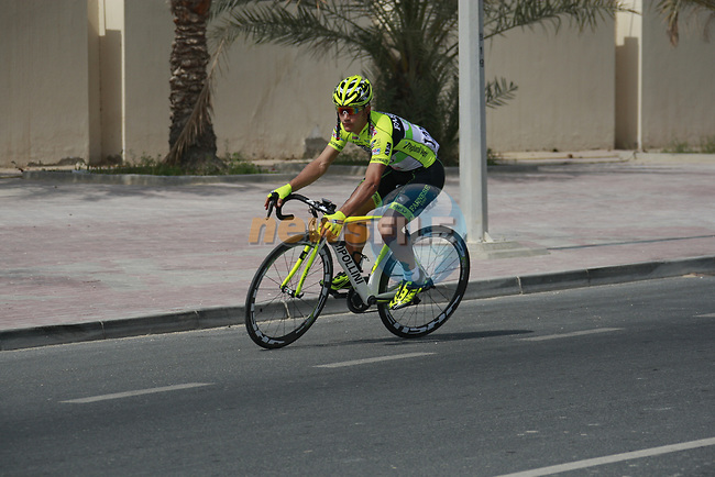Andrea Guardini (ITA) Farnese Vini-Selle Italia before the start of Stage 1 of the Tour of Qatar 2012 running 142.5km from Barzan Towers to Doha Golf Club, Doha, Qatar. 5th February 2012.<br /> (Photo by Eoin Clarke/NEWSFILE).