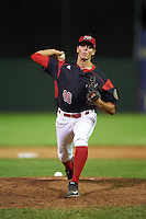 Batavia Muckdogs relief pitcher Parker Bugg (40) during a game against the West Virginia Black Bears on June 30, 2016 at Dwyer Stadium in Batavia, New York.  Batavia defeated West Virginia 4-3.  (Mike Janes/Four Seam Images)