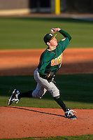 Siena Saints pitcher Matt Gage #49 during a game against the Central Florida Knights at Jay Bergman Field on February 16, 2013 in Orlando, Florida.  Siena defeated UCF 7-4.  (Mike Janes/Four Seam Images)