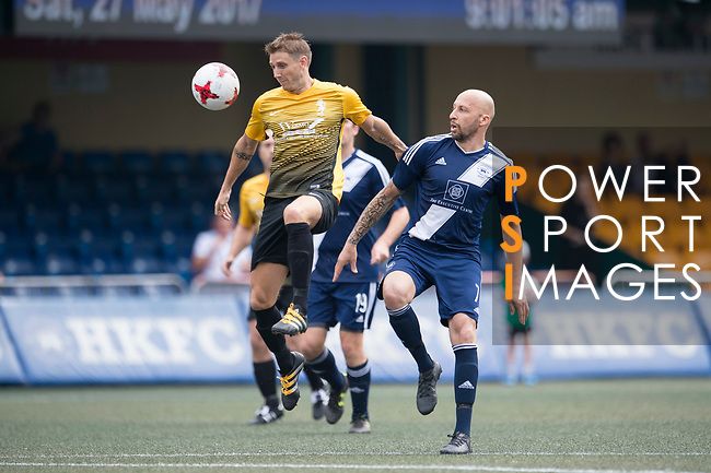SCC Tigers (in yellow) vs HKFC Masters (in navy blue) during their Masters Tournament match, part of the HKFC Citi Soccer Sevens 2017 on 27 May 2017 at the Hong Kong Football Club, Hong Kong, China. Photo by Marcio Rodrigo Machado / Power Sport Images