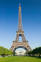 Eiffel Tower and Champs de Mars in Spring, Paris, France