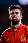 Gerard Pique of Spain getting into the field during the International Friendly 2018 match between Spain and Argentina at Wanda Metropolitano Stadium on 27 March 2018 in Madrid, Spain. Photo by Diego Souto / Power Sport Images