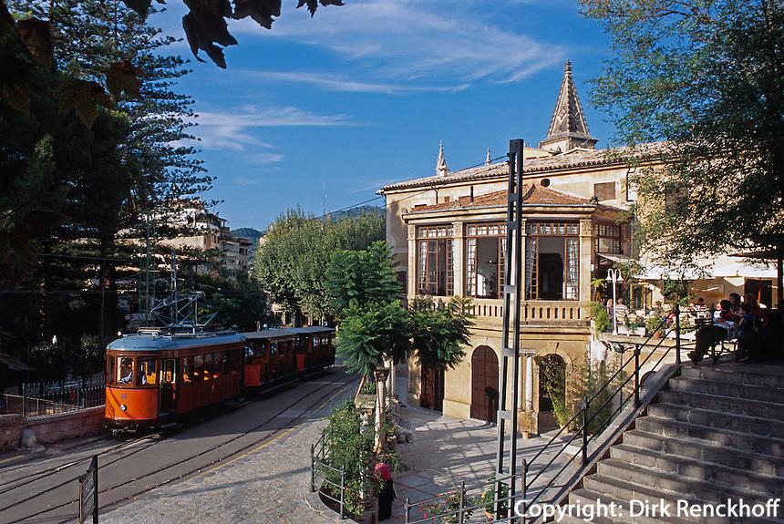 Spanien, Mallorca, Bahnhof von Soller