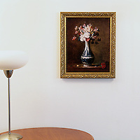 "Chardin: ""Vase of Flowers"", Digital Print, Image Dims. 16"" x 13"", Framed Dims. 19"" x 16"""