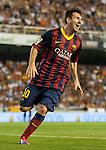 Spanish National Football League - First Division - BBVA League.<br /> Valencia CF (2) vs (3) FC Barcelona.<br /> Mestalla Stadium.<br /> Valencia (Spain).<br /> September 1, 2013.