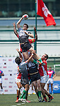 BCG Asia Pacific Dragons (in red) defeat Devils Own Shanghai Rugby (in grey) 48 to 0 during day 1 of GFI HKFC Rugby Tens 2016 on 06 April 2016 at Hong Kong Football Club in Hong Kong, China. Photo by Juan Manuel Serrano / Power Sport Images