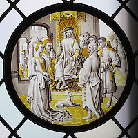 Roundel with Susanna In Judgement. ca. 1510–20. Colorless glass, vitreous paint and silver stain. The Metropolitan Museum of Art, New York