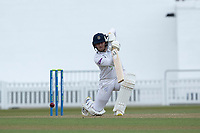Liam Dawson drives into the covers during Surrey CCC vs Hampshire CCC, LV Insurance County Championship Group 2 Cricket at the Kia Oval on 1st May 2021