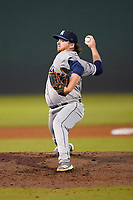 Pitcher R.J. Freure (36) of the Asheville Tourists in a game against the Greenville Drive on Tuesday, June 1, 2021, at Fluor Field at the West End in Greenville, South Carolina. (Tom Priddy/Four Seam Images)