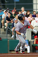 Potomac Nationals outfielder JP Ramirez (#9) at bat during a game vs. Myrtle Beach Pelicans at BB&T Coastal Field in Myrtle Beach, SC on April 27, 2011. Photo By Robert Gurganus/Four Seam Images