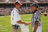 1 September 2007: Jim Harbaugh during Stanford's 45-17 loss to the UCLA Bruins at Stanford Stadium in Stanford, CA.