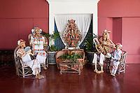 """Catrina"" Skeletal Figures Representing the Ancestors, Hacienda Henequenera, Xcaret, Playa del Carmen, Yucatan, Mexico."