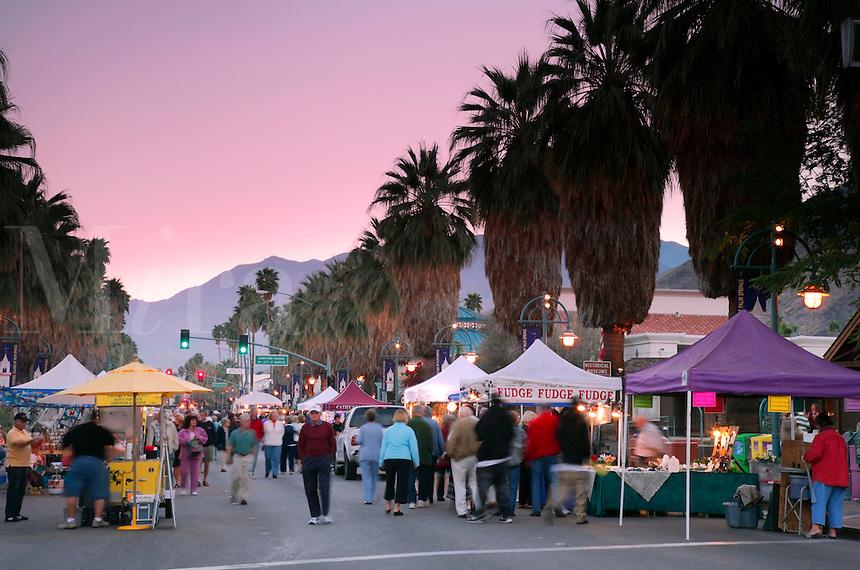 Village Fest, the open air Street Fair closes down the main street (Palm Canyon Drive), Palm Springs, California
