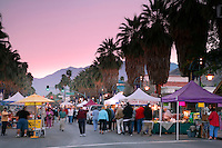 Village Fest, the open air Street Fair closes down the main street (Palm Canyon Drive), Palm Springs, California