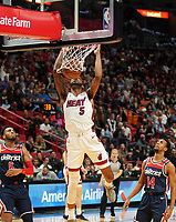 Dunking Derrick Jones Jr. (F/G Miami Heat, #05) - 22.01.2020: Miami Heat vs. Washington Wizards, American Airlines Arena