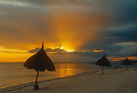 Sunset over the beach in Bohol, Philippines