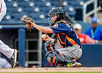 27 February 2019: Houston Astros catcher Garrett Stubbs in pre-season action against the Washington Nationals at the Ballpark of the Palm Beaches in West Palm Beach, Florida. The Nationals defeated the Astros 14-8 in their Spring Training Grapefruit League matchup. Mandatory Credit: Ed Wolfstein Photo *** RAW (NEF) Image File Available ***
