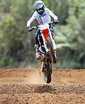 Flynn Watts, 12-14 years 125cc. New Zealand Motocross Age Group Nationals, TECT All Terrain Park, Bay of Plenty, Sunday 7 February 2021. Photo: Simon Watts/www.bwmedia.co.nz