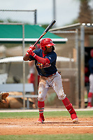GCL Cardinals Francisco Hernandez (4) during a Gulf Coast League game against the GCL Marlins on August 12, 2019 at the Roger Dean Chevrolet Stadium Complex in Jupiter, Florida.  GCL Marlins defeated the GCL Cardinals 9-2.  (Mike Janes/Four Seam Images)