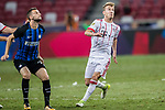 Bayern Munich Midfielder Niklas Dorsch (R) fights for the ball with FC Internazionale Midfielder Marcelo Brozovic (L) during the International Champions Cup match between FC Bayern and FC Internazionale at National Stadium on July 27, 2017 in Singapore. Photo by Marcio Rodrigo Machado / Power Sport Images
