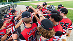 WATERBURY, CT 072821JS18 CT Gamecocks players celebrate after defeating the Michigan Bulls in the opening round of the Mickey Mantle World Series at Municipal Stadium in Waterbury. <br /> Jim Shannon Republican American