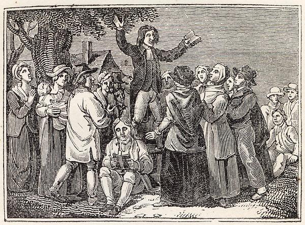 Methodist field preacher in the United States     Date: 1820     Source: Nightingale's Religious ceremonies