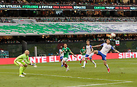 Mexico City, Mexico - Sunday June 11, 2017: Geoff Cameron during a 2018 FIFA World Cup Qualifying Final Round match with both men's national teams of the United States (USA) and Mexico (MEX) playing to a 1-1 draw at Azteca Stadium.