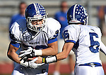 Carson's Matt Nolan hands off to Dylan Sawyers during the NIAA 4A northern region football championship game between Reed High and Carson High on Saturday, Nov. 26, 2011, in Reno, Nev. Reed won 49-0 advancing to the state title game next Saturday against Bishop Gorman. .Photo by Cathleen Allison
