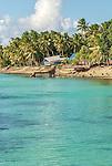 The crystal clear waters in front of Vaiaku Lagi Hotel in Funafuti, Tuvalu