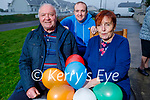 Marie Kindlan from Ballybunion celebrating her 70th birthday at home on Sunday. L to r: Paidi, Luke and Marie Kindlan