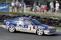 Round 10 of the 1991 British Touring Car Championship. #3 Andy Rouse (GBR). Kaliber ICS Team Toyota. Toyota Carina.