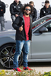 Marcelo of Real Madrid CF poses for a photograph after being presented with a new Audi car as part of an ongoing sponsorship deal with Real Madrid at their Ciudad Deportivo training grounds in Madrid, Spain. November 23, 2017. (ALTERPHOTOS/Borja B.Hojas)