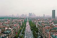 Paris: From the Arc--looking west along the Ave. de La Grand Armee towards La Defense. Photo '87.