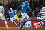 St Johnstone v Celtic.....26.12.13   SPFL<br /> Stevie May gets a shot away at goal<br /> Picture by Graeme Hart.<br /> Copyright Perthshire Picture Agency<br /> Tel: 01738 623350  Mobile: 07990 594431