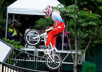 MEDELLIN- COLOMBIA -29-05-2016: Natalia Suvorova (RUS) durante su participación en la categoría elite mujeres en el marco del Campeonato Mundial de BMX 2016 que se realiza entre el 25 y el 29 de mayo de 2016 en la ciudad de Medellín. / Natalia Suvorova (RUS) during her performance in the women elite's categories as part of the 2016 BMX World Championships to be held between 25 and 29 May 2016 in the city of Medellin. Photo: VizzorImage / Cristian Alvarez / CONT