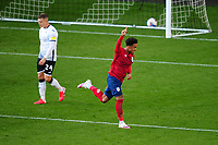 Josh Koroma of Huddersfield Town celebrates scoring his side's second goal during the Sky Bet Championship match between Swansea City and Huddersfield Town at the Liberty Stadium in Swansea, Wales, UK. Saturday 17 October 2020