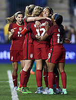 Chester, Pa. - March 1, 2017: The U.S. Women's National team defeat Germany 1-0 with Lynn Williams scoring the lone goal in the 2017 SheBelieves Cup at Talen Energy Stadium.