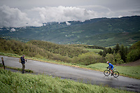 Matteo Badilatti (SUI/Groupama - FDJ) up the Colle Passerino (3km from the finish)<br /> <br /> 104th Giro d'Italia 2021 (2.UWT)<br /> Stage 4 from Piacenza to Sestola (187km)<br /> <br /> ©kramon