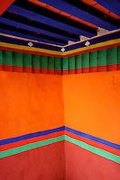 Colourful corner of the courtyard in Sera Monastery, Lhasa, Tibet
