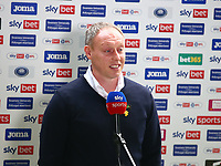 20th March 2021; Liberty Stadium, Swansea, Glamorgan, Wales; English Football League Championship Football, Swansea City versus Cardiff City; Steve Cooper, Manager of Swansea City speaks during a pre-match interview