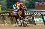 ELMONT, NY - JUNE 09: Monomoy Girl  #3, ridden by Florent Geroux, wins the Ogden Phipps Stakeson Belmont Stakes Day at Belmont Park on June 9, 2018 in Elmont, New York. (Photo by Kazushi Ishida/Eclipse Sportswire/Getty Images)