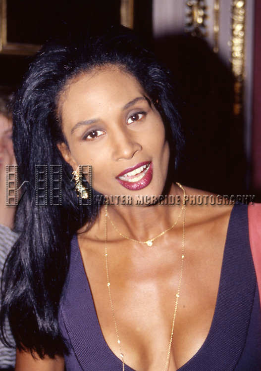 Beverly Johnson on March 1, 1990 in New York City.