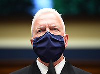Assistant Secretary for Health U.S. Department of Health and Human Services ADM Brett P. Giroir wears a face mask while he waits to testify before the House Committee on Energy and Commerce on the Trump Administration's Response to the COVID-19 Pandemic, on Capitol Hill in Washington, DC on Tuesday, June 23, 2020.  <br /> Credit: Kevin Dietsch / Pool via CNP/AdMedia