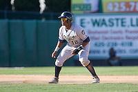 July 18, 2010: Eugene Emeralds' Rymer Liriano (#12) leads off second base during a Northwest League game against the Everett AquaSox at Everett Memorial Stadium in Everett, Washington.
