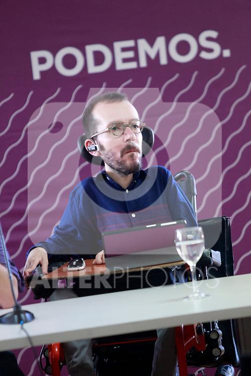 Pablo Echenique, Secretary of Organization, during the Consejo Ciudadano Estatal - State Citizen Council of Podemos. (ALTERPHOTOS/Acero)