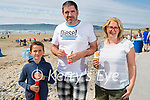 Enjoying the beach and ice cream in Banna on Sunday, l to r: Rían, Anthony and Denise Watkins.