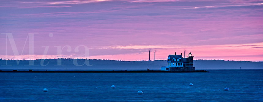 Rockland Harbor Breakwater Light, Rockland, Maine,  USA