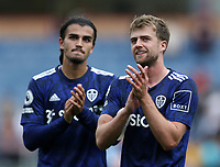 29th August 2021; Turf Moor, Burnley, Lancashire, England; Premier League football, Burnley versus Leeds United: Patrick Bamford of Leeds United applauds from the visiting supporters after the final whistle