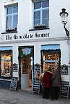 Belgium, West-Flanders, Bruges: exterior of Belgian Chocolate shop